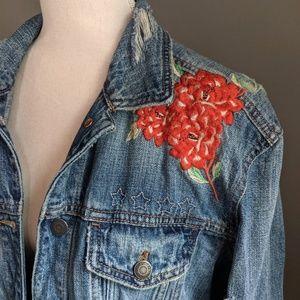 AEO Embroidered Denim Jacket